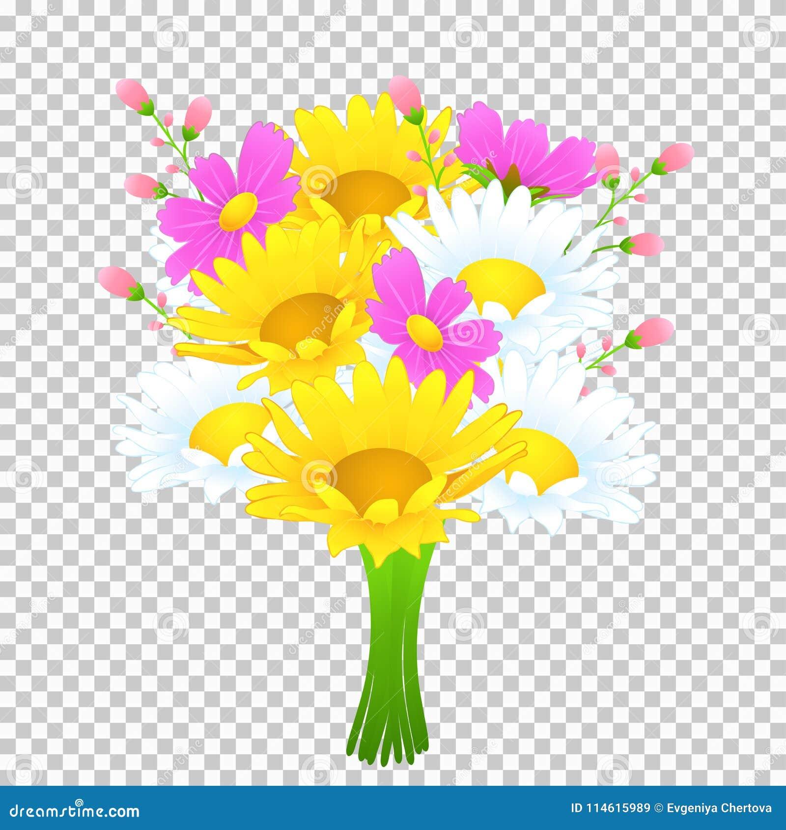 Ramo De Flores Coloridas Dibujo Del Vector El Prado Brillante