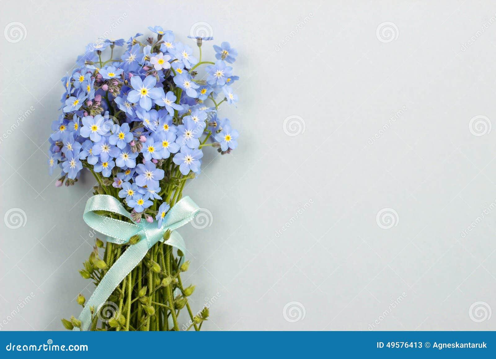 Resultado de imagen para flores de tela nomeolvides