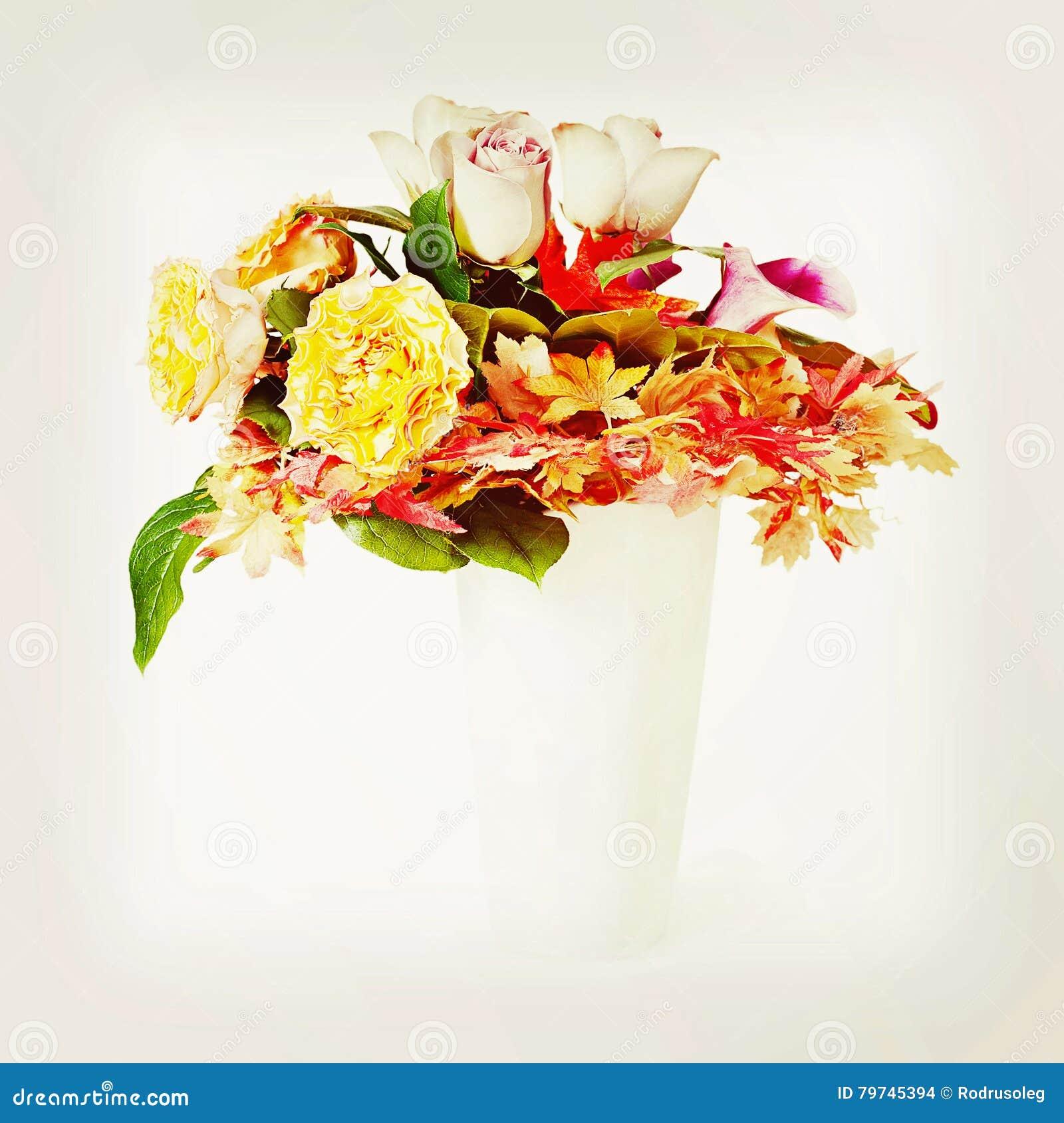 Ramo de las flores con efecto retro del filtro