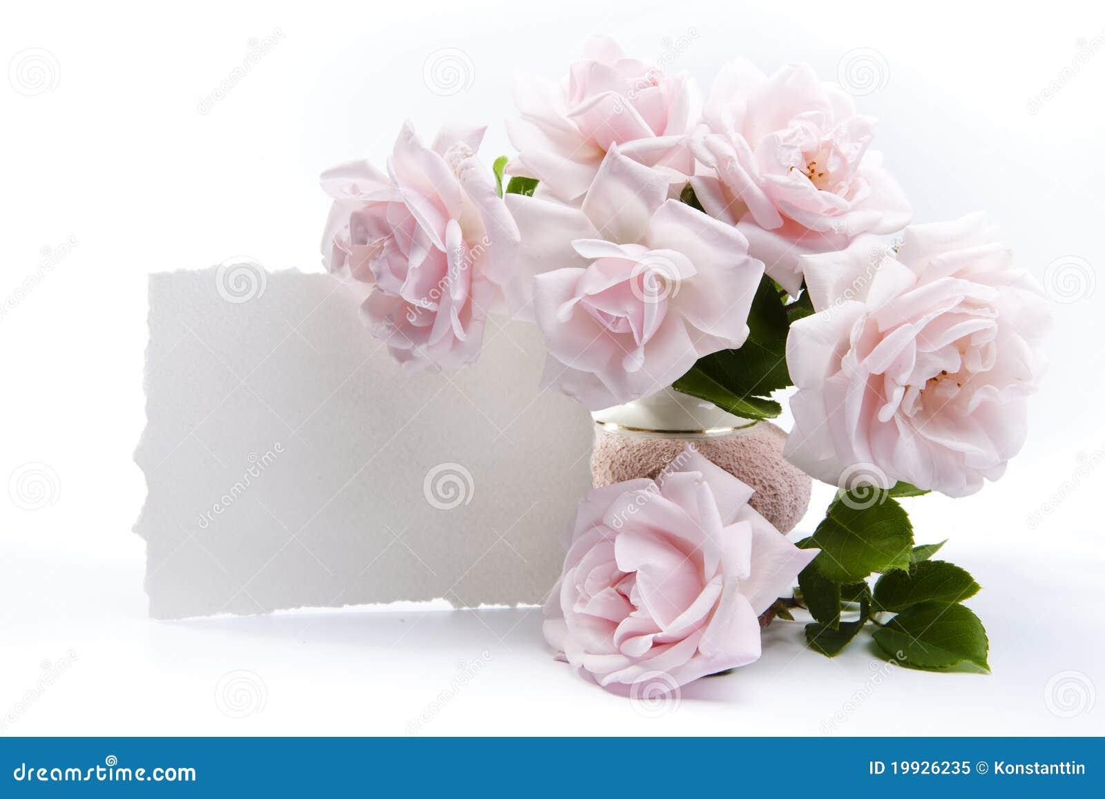 ramo de rosas para las tarjetas de felicitaci u00f3n rom u00e1nticas