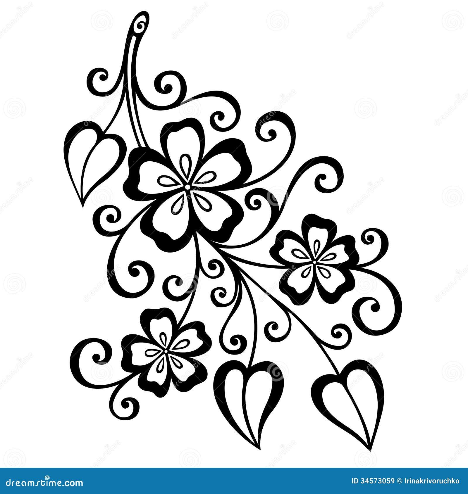 Ramo Decorativo Com Flores Imagens De Stock Royalty Free Imagem