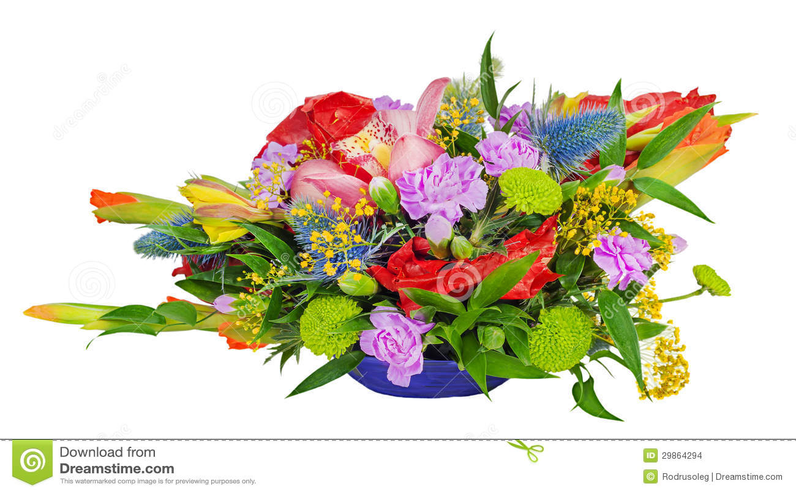 Ramo Floral De Orquídeas De Gladiolos Y De Claveles Foto De