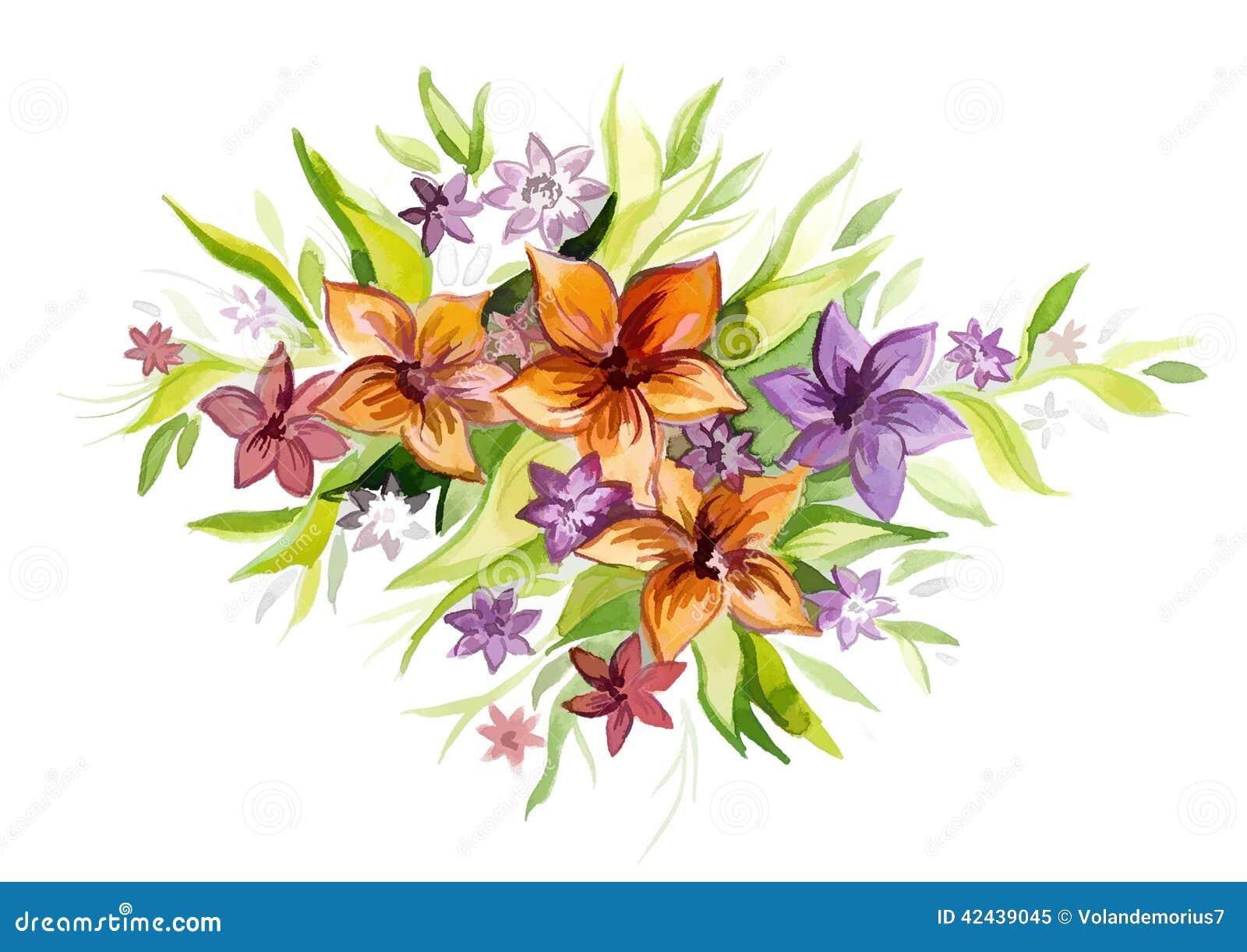 Ramo hermoso de flores de diversas formas