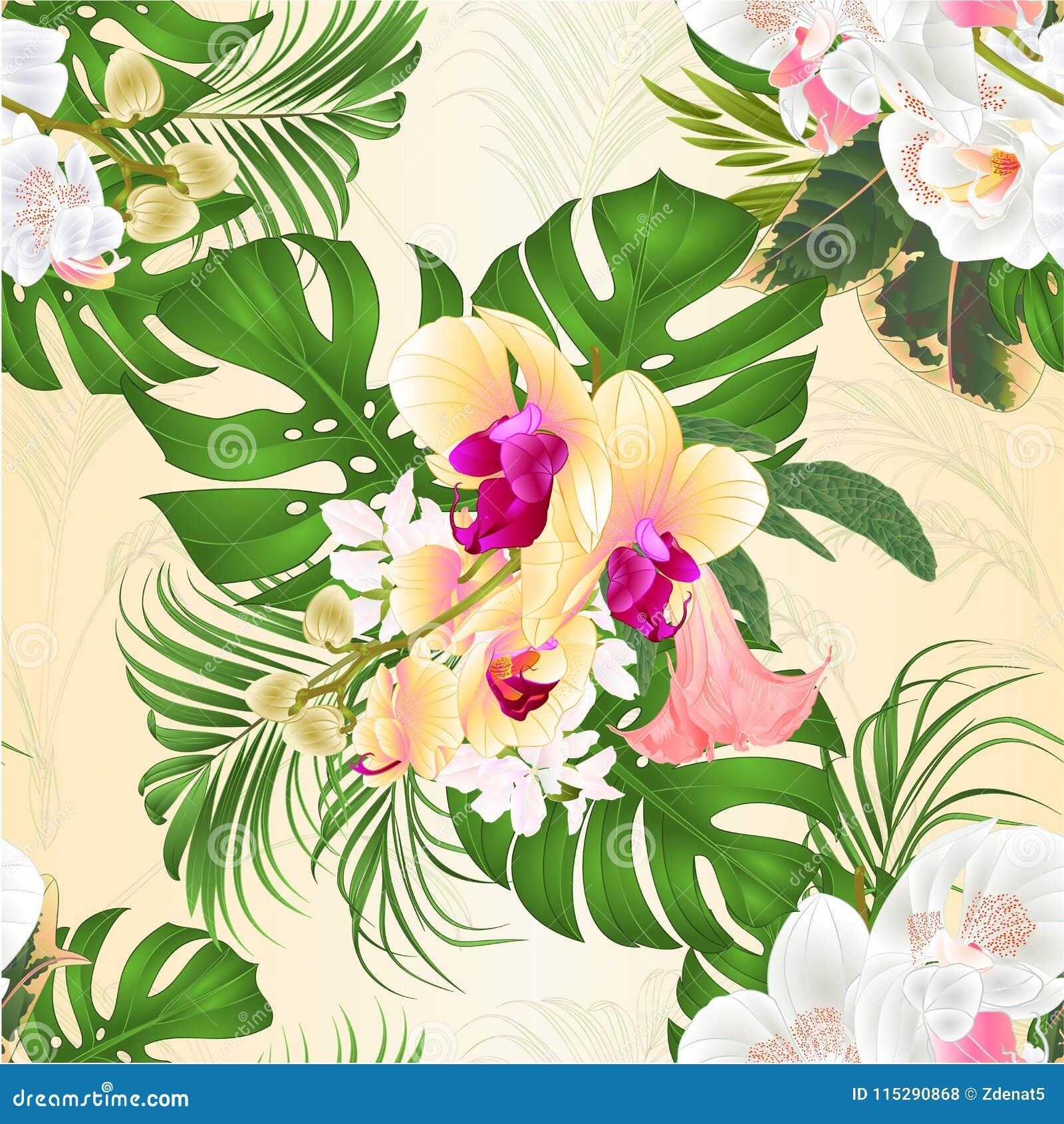 Ramo Inconsútil De La Textura Con El Arreglo Floral De Las