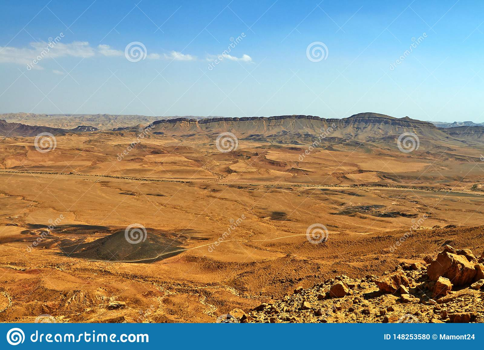 Ramon Crater in Israel Negev Desert