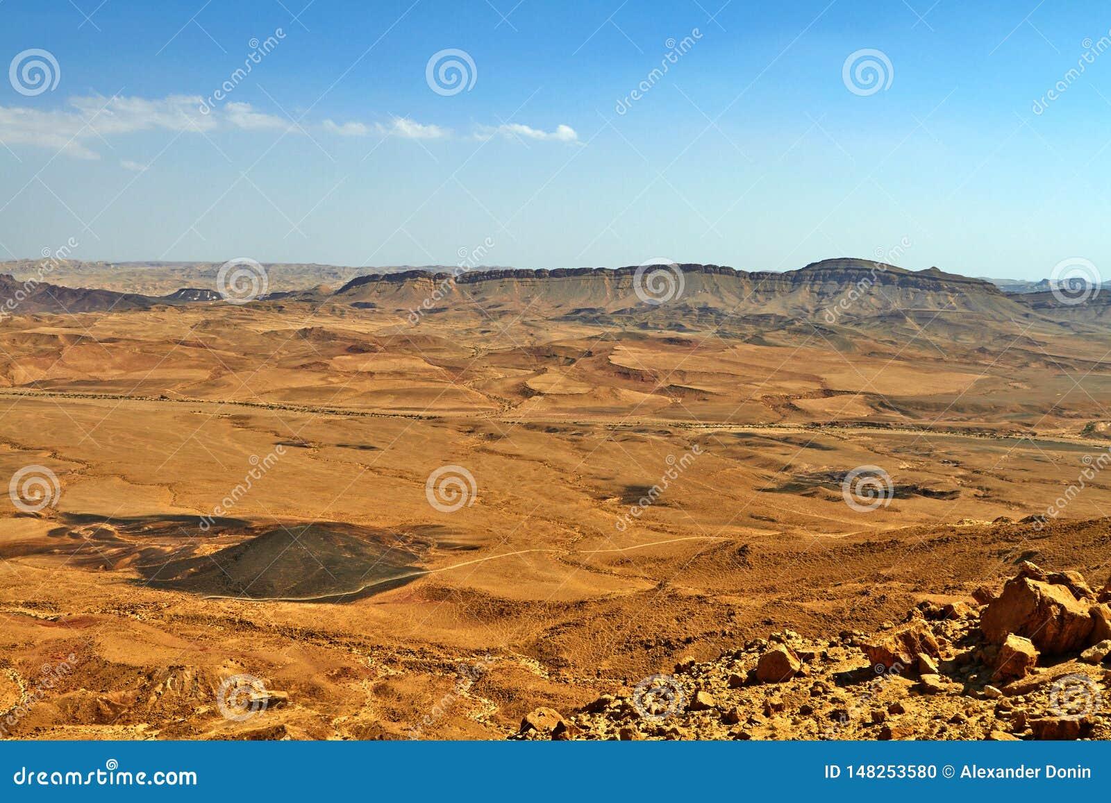 The Ramon Crater in Israel Negev Desert