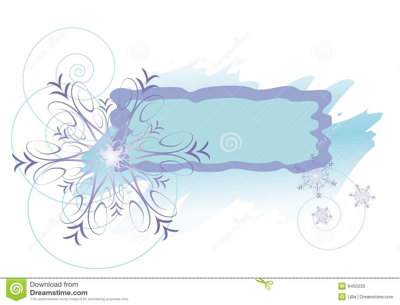 Ramowa snowfiake fioletowe zima