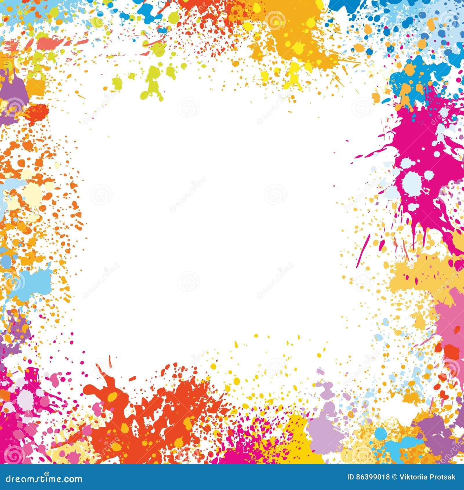 Ramowy szablon robić farb plamy