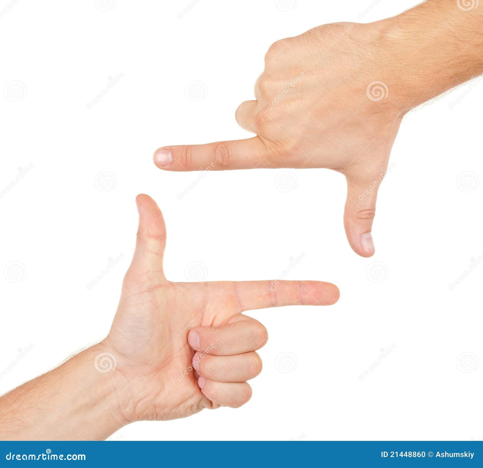 Ramowych ręk kształtny viewfinder