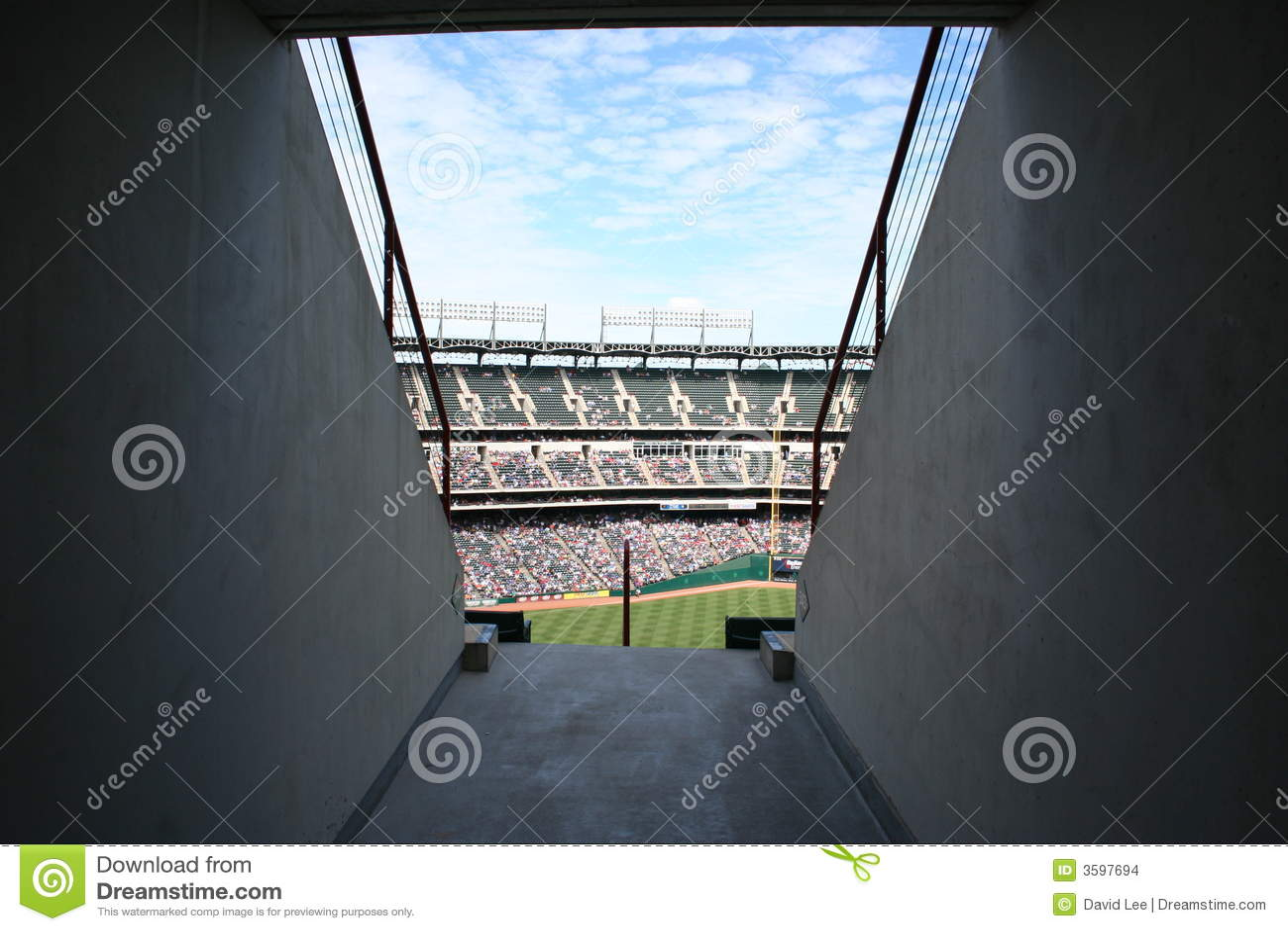 Ramp into baseball stadium