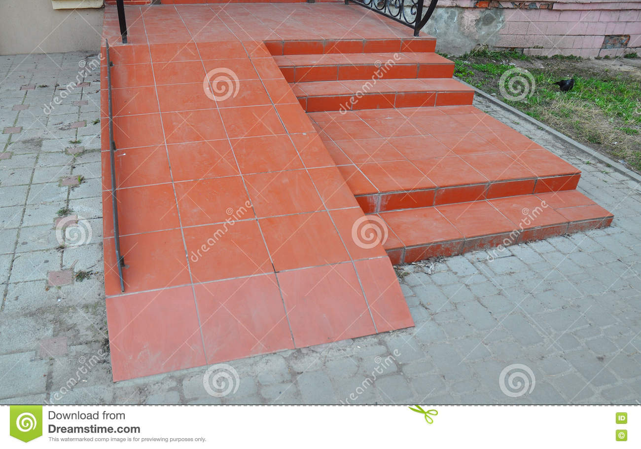 Ramp For Wheelchair Entry Brick Ramp Way For Support