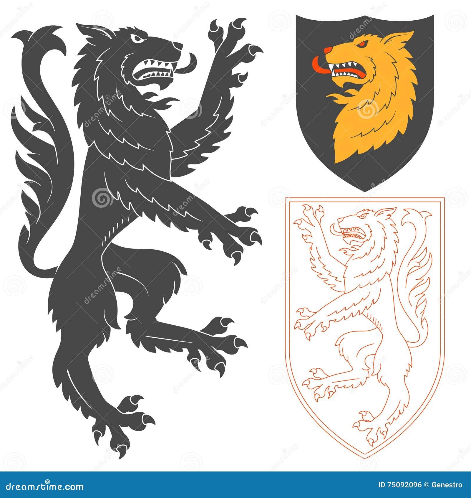 Vector heraldic shield Vector  Free Download