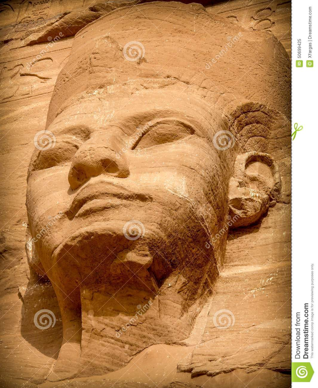 Ramses ii facial structure tube