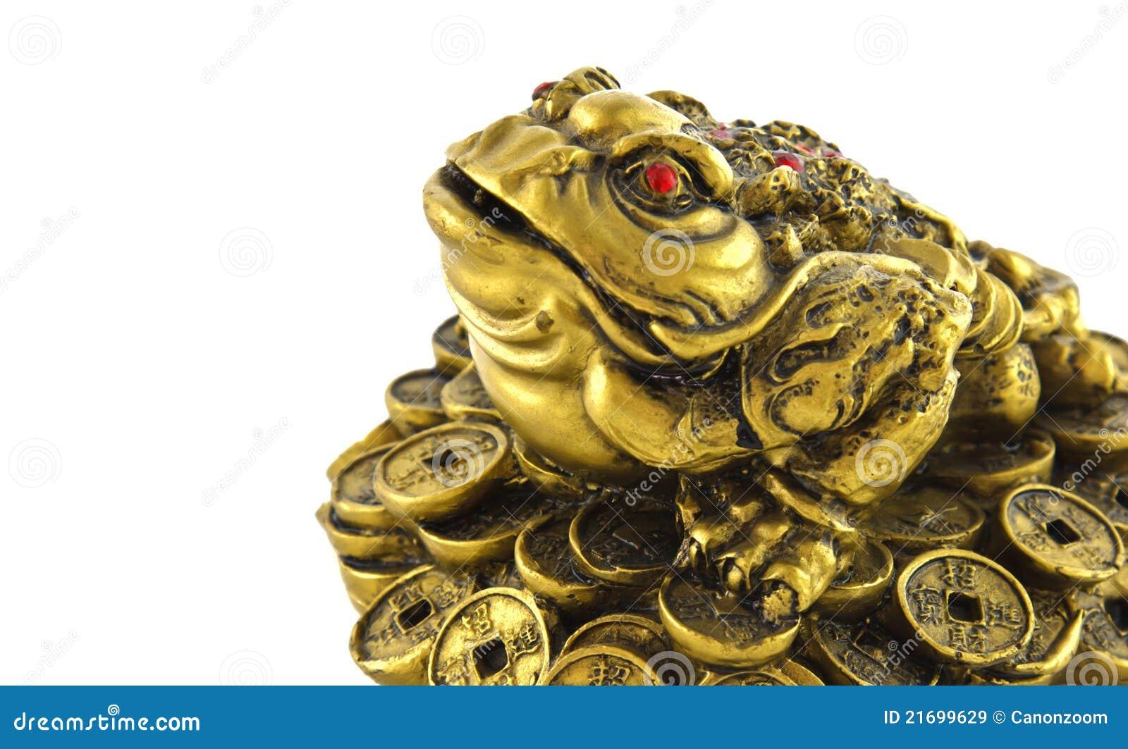 rana afortunada china del dinero de feng shui para la