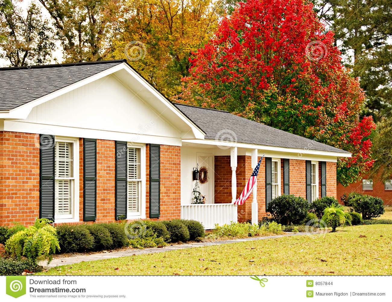 Ranch de maison d automne