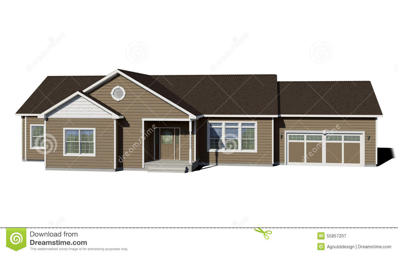 Ranch house clay stock image image of porch - Brown house with white trim ...