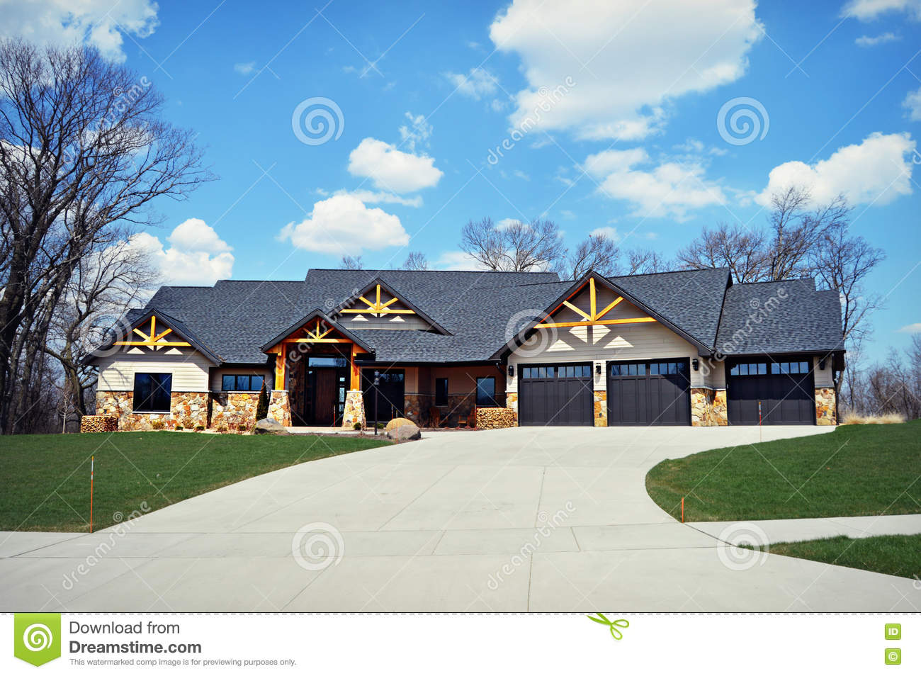 Ranch House Stock Photo Image 70323133