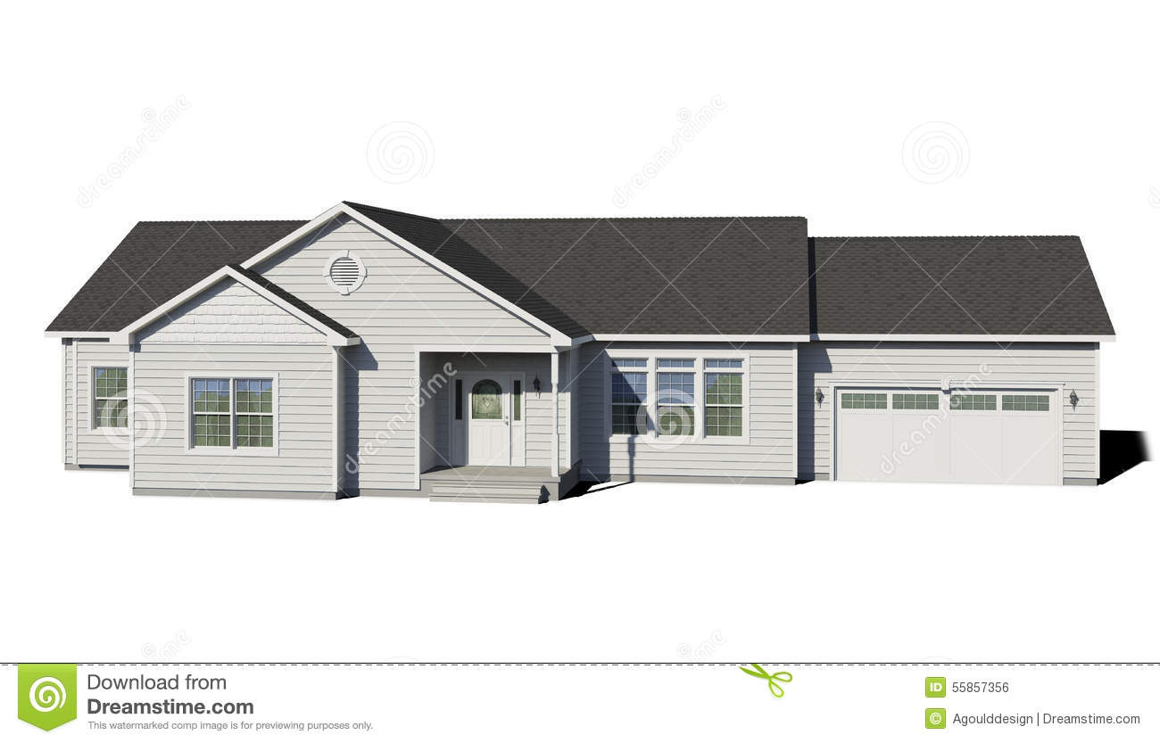 Ranch Style Home Stock Illustrations – 179 Ranch Style Home Stock ...