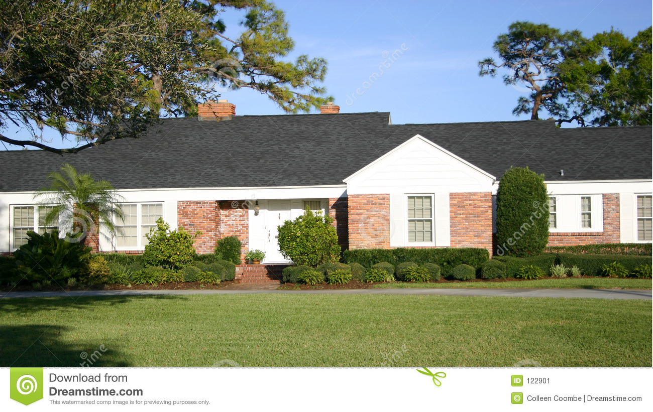 Ranch style home stock image image 122901 for Executive ranch style homes