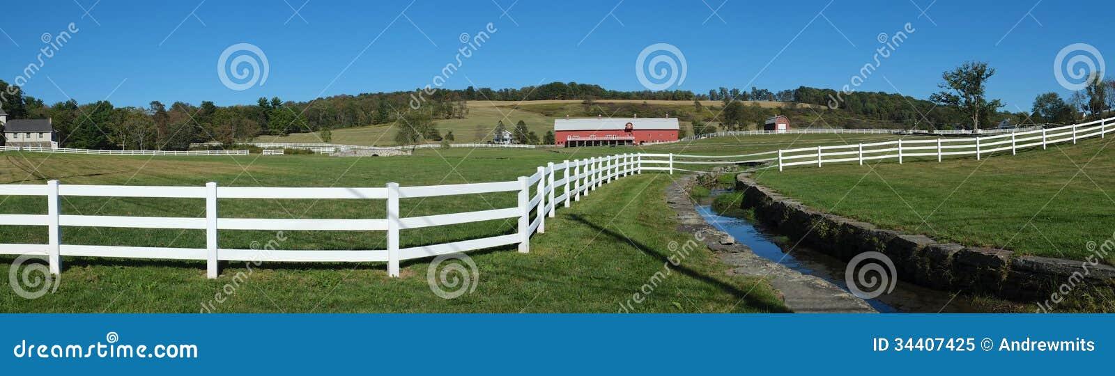 Ranch-Zaun Panorama