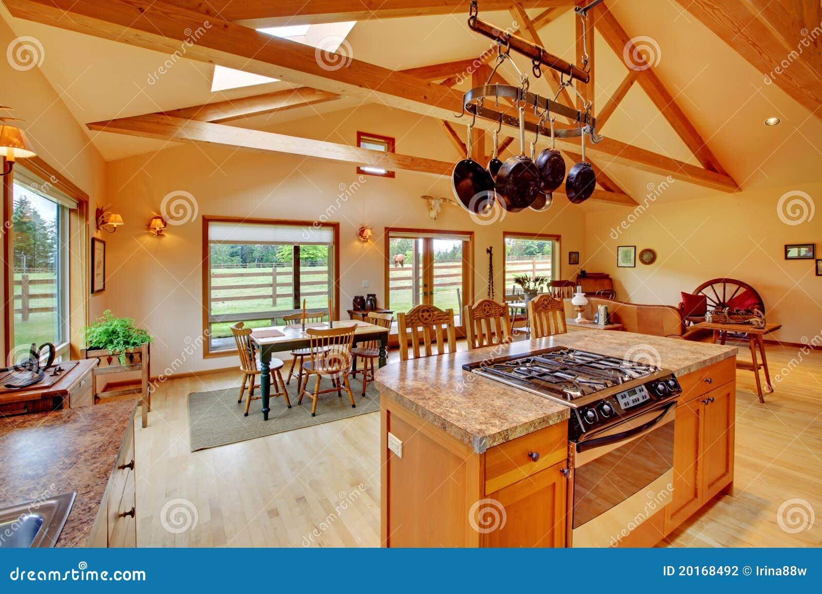 Rancho kuchenny wielki żywy pokój