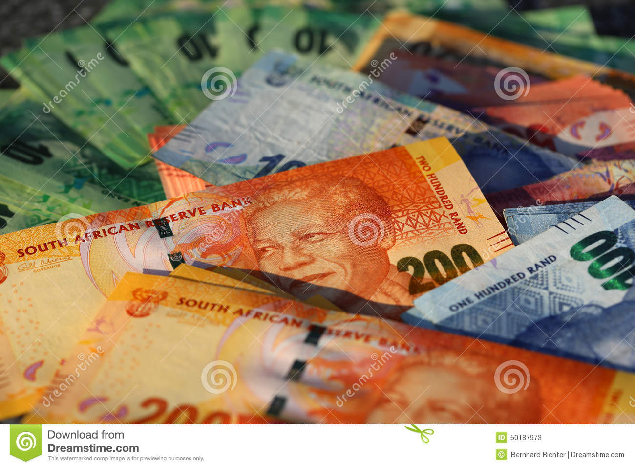 rand banknotes sud africain photo stock image 50187973