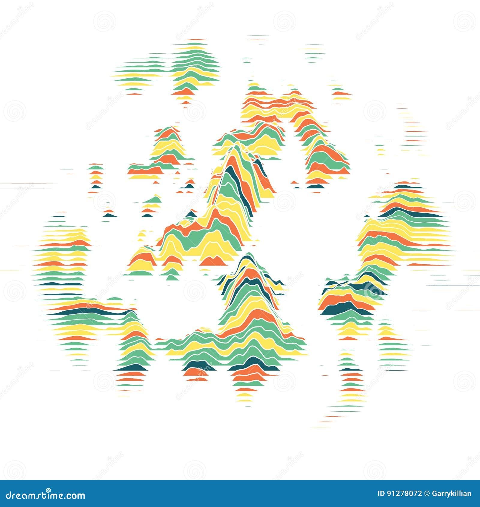 Randig vektor för bakgrund abstrakt färgwaves Svängning för solid våg Skraj krullade linjer Elegant krabb textur