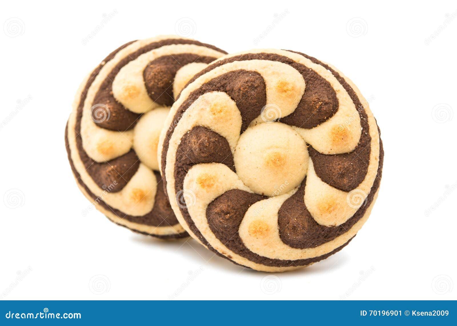 Randiga kakor för läcker choklad