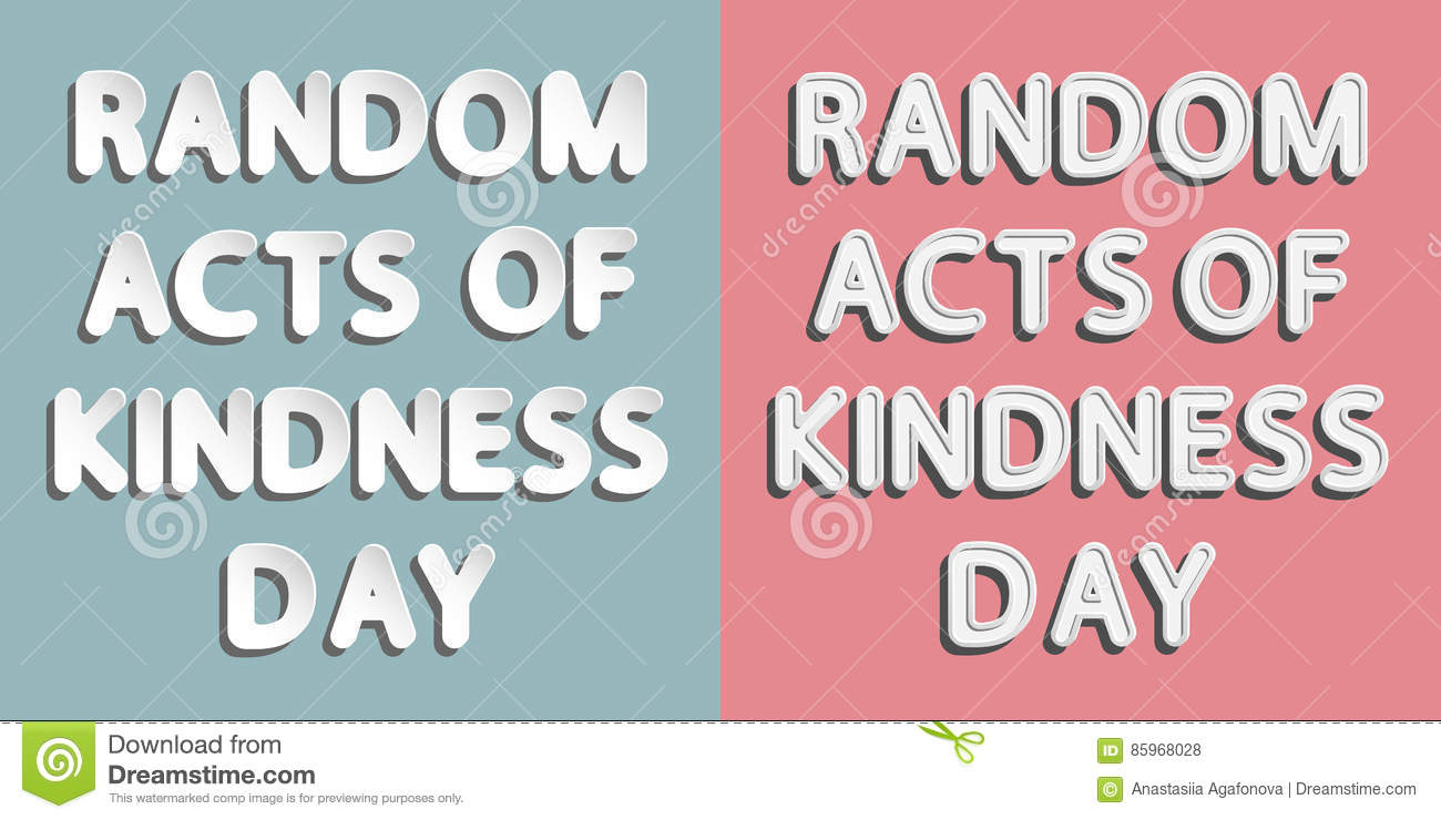 Effects of random acts of kindness