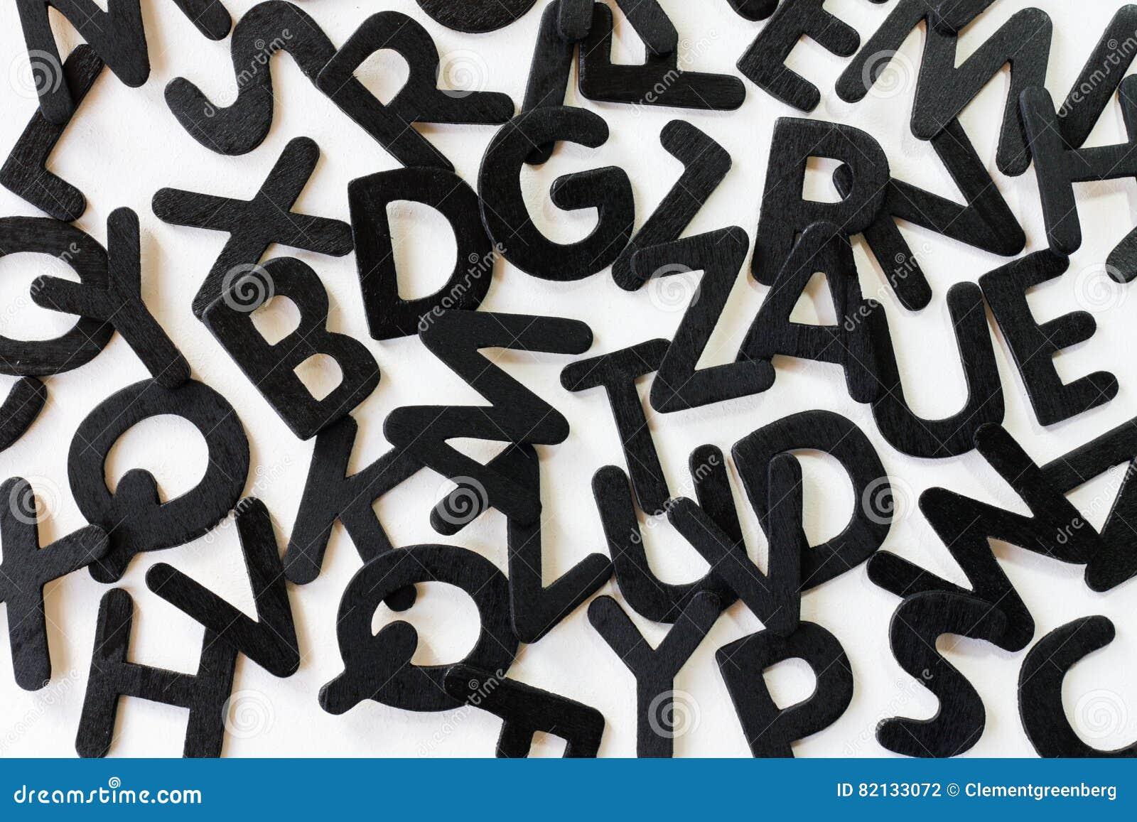 Random Alphabet Letters On A White Background Stock Photo Image Of