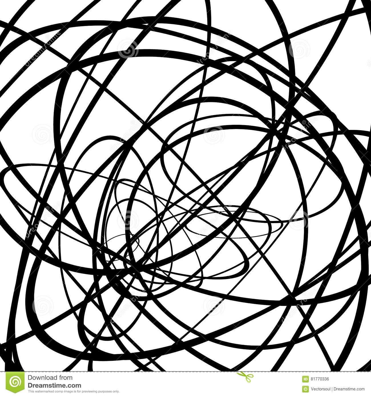 random circles ovals forming squiggly lines abstract artistic