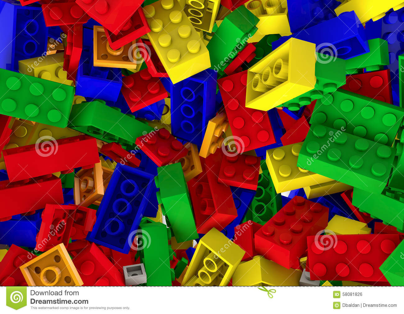 Random Colorful Toy Plastic Blocks Background Stock Photo ...