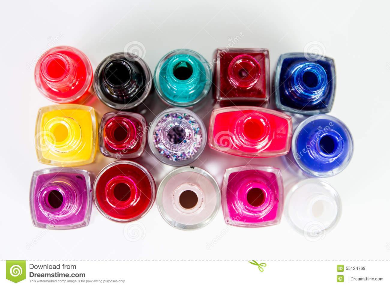 Random nail polish bottles stock photo image 55124769 for How to renew old nail polish