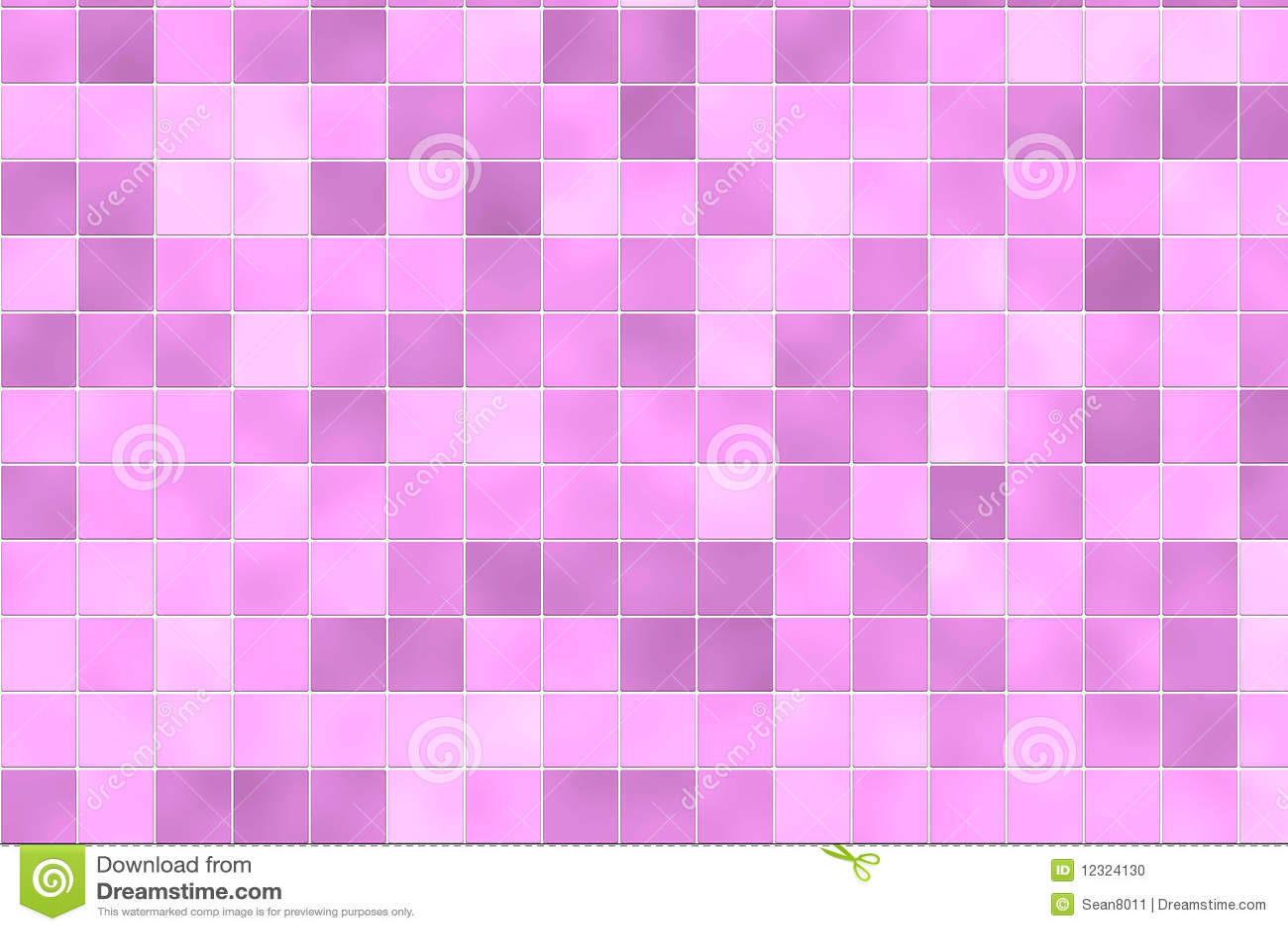 Random Pink Bathroom Tiles Stock Photo Image 12324130