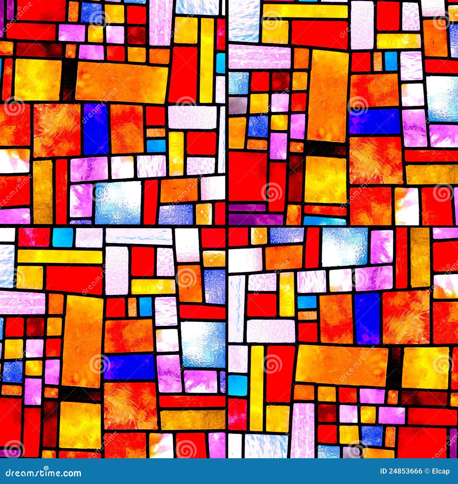 Random Square Multicolor Pattern