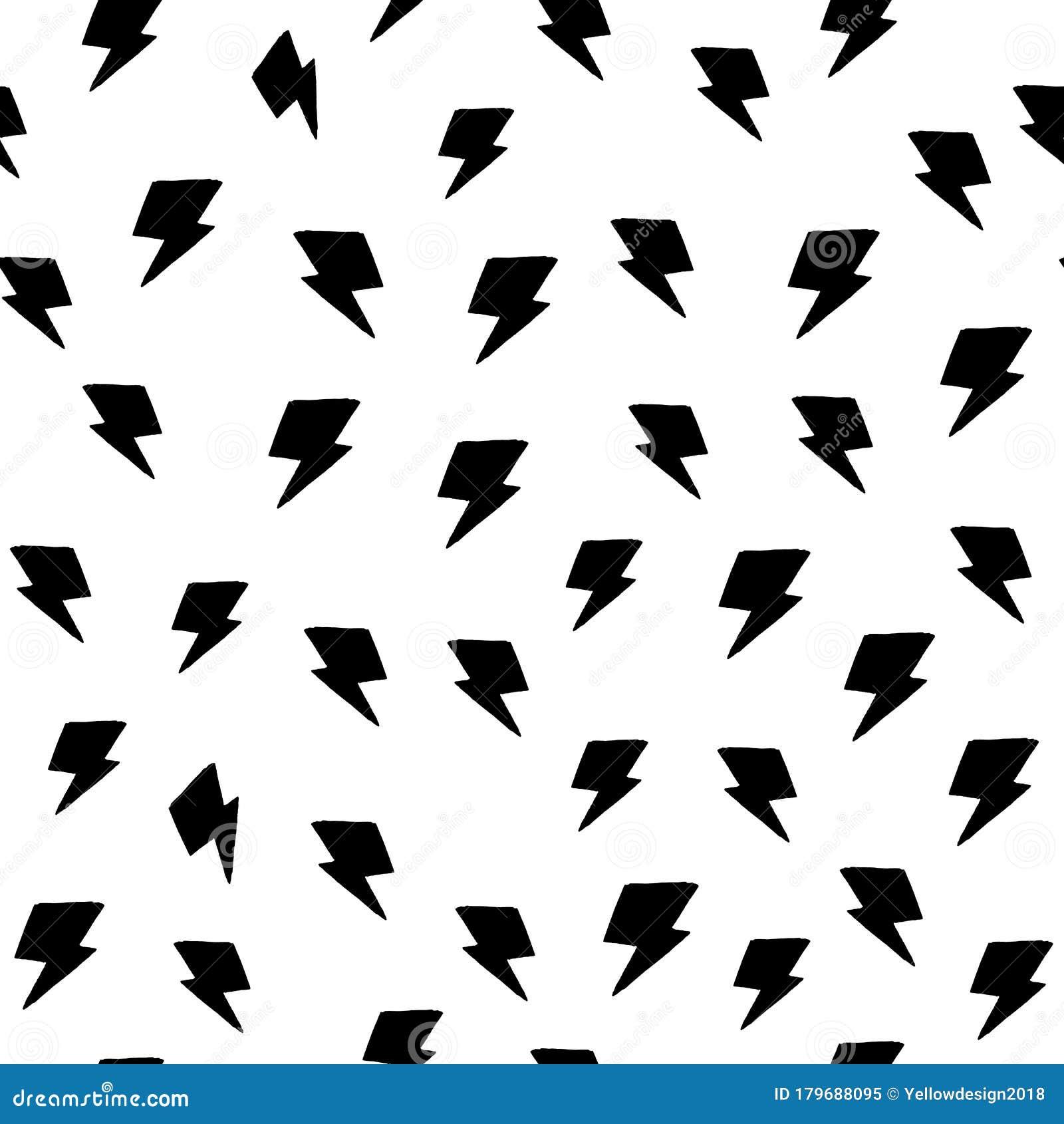 Random Thunder Backdrop Seamless Pattern On White Background Black Lightning Bolts Thunderbolt Wallpaper Stock Illustration Illustration Of Black Fabric 179688095,Principles Of Design Pattern Picture