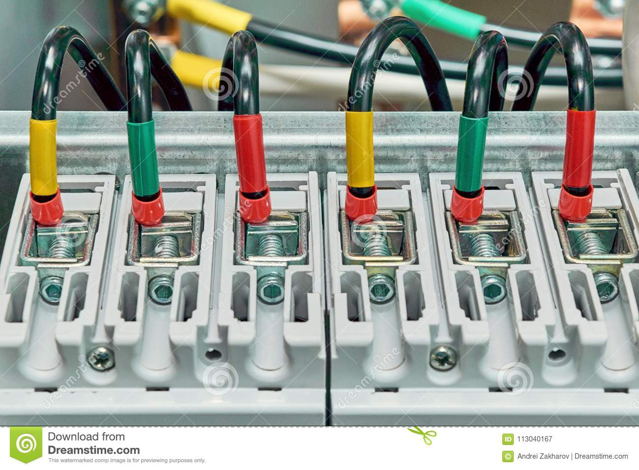 Range Of Electrical Wires Or Cables Are Connected To The Power Wiring Circuit Breaker Breakers