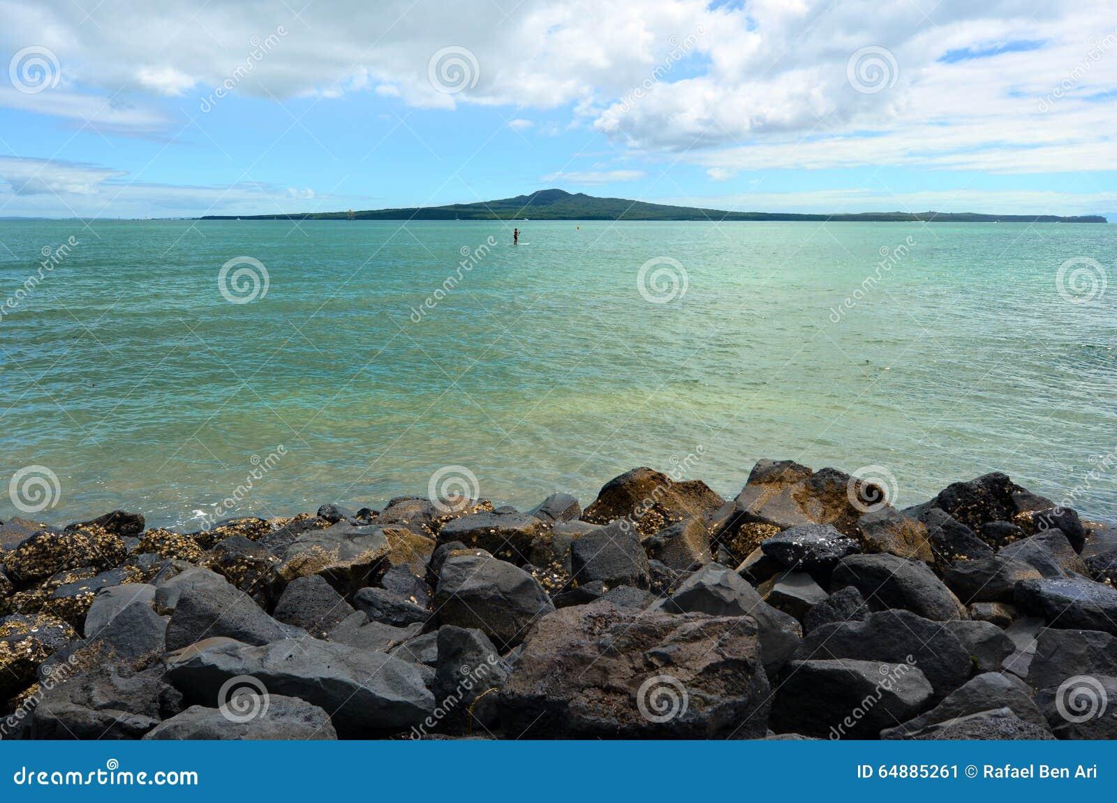 Rangitoto island auckland new zealand stock photo image for Landscaping rocks auckland