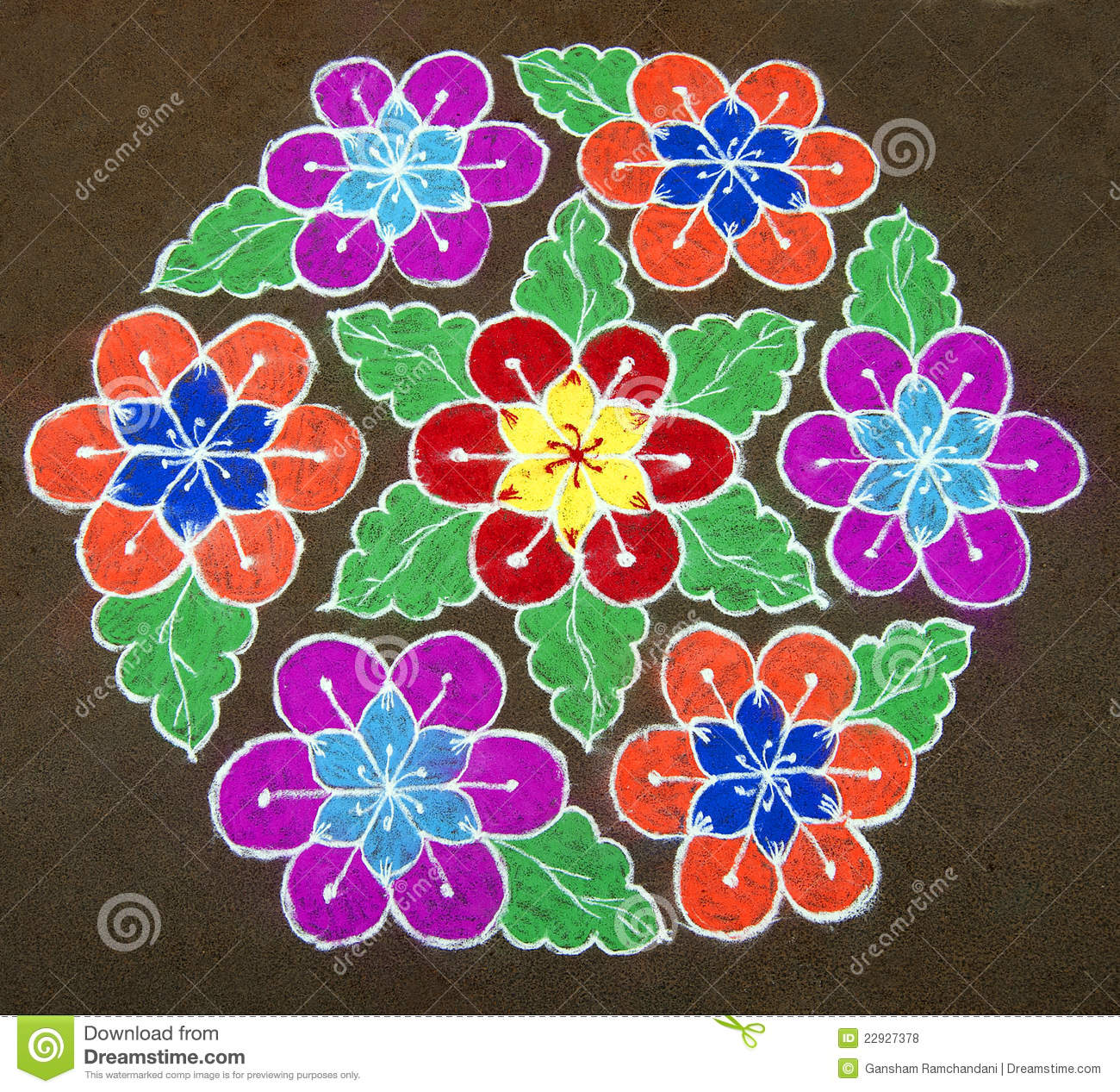 how to draw rangoli patterns