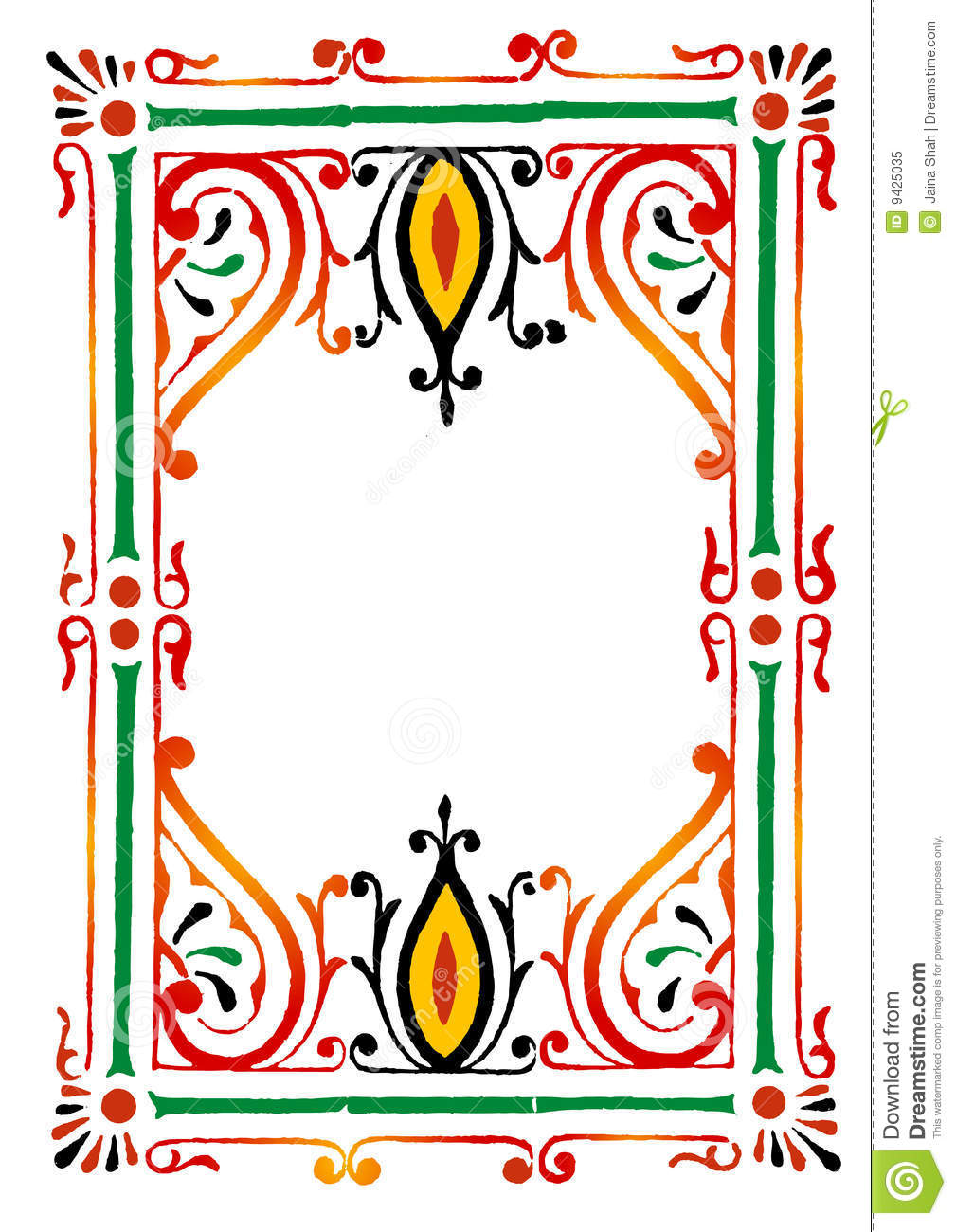 Rangoli Border Royalty Free Stock Photo - Image: 9425035