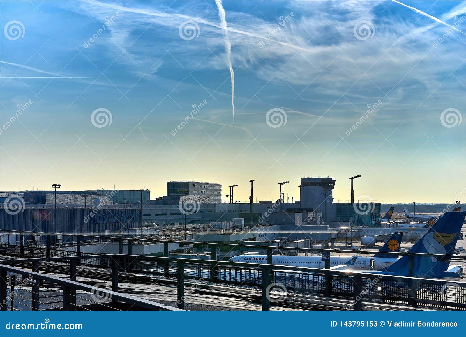 FRANKFURT, GERMANY - August 29, 2018: Skyline Train For