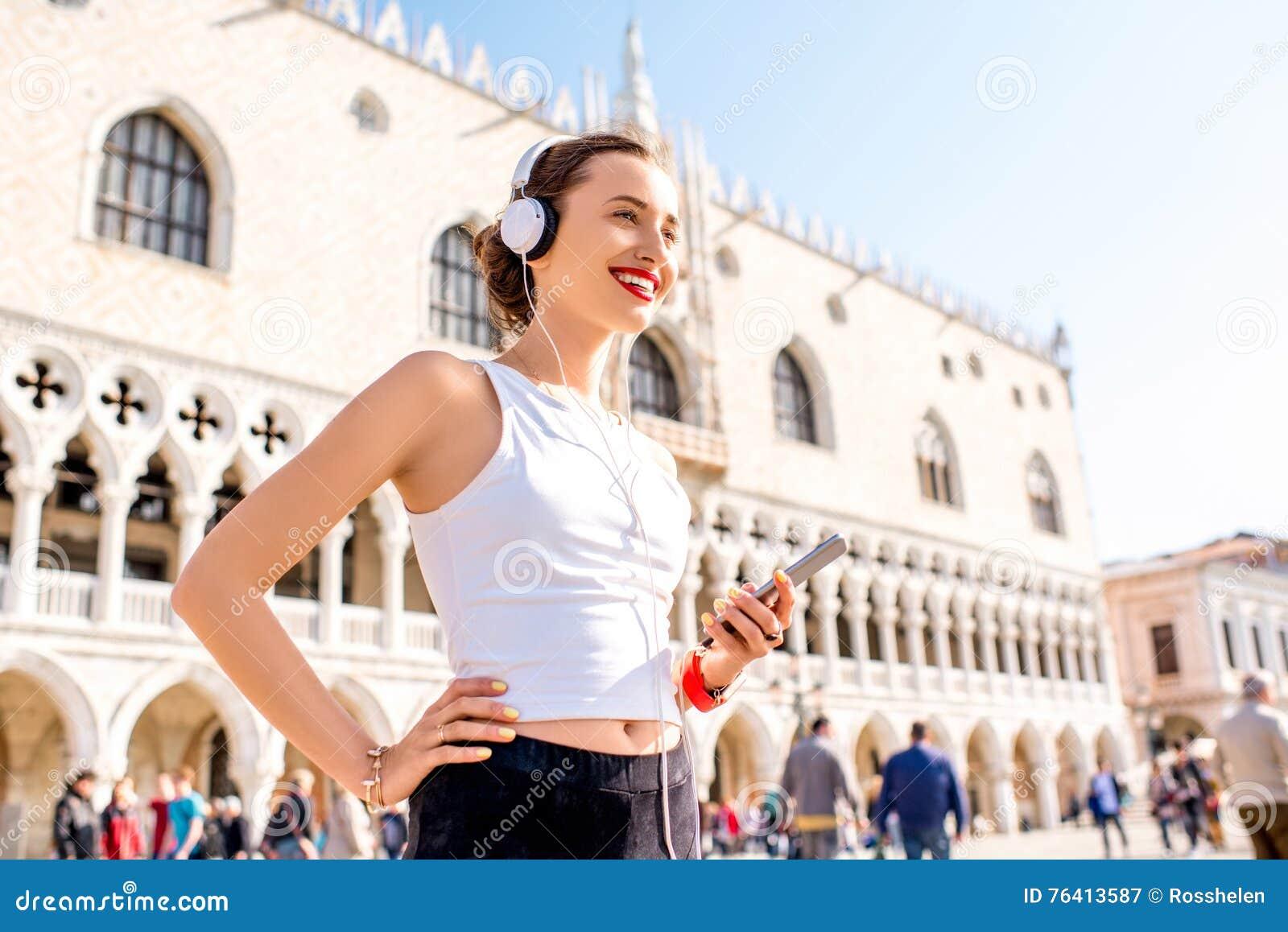Ranku ćwiczenie w starym miasteczku Wenecja
