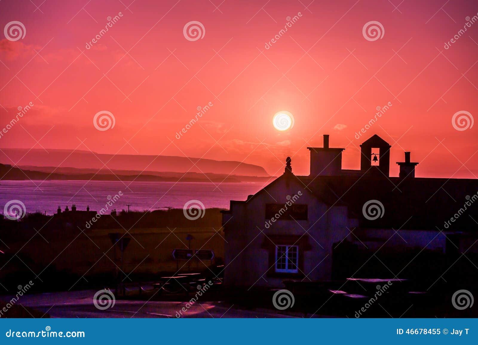 Ranku słońce w Irlandia