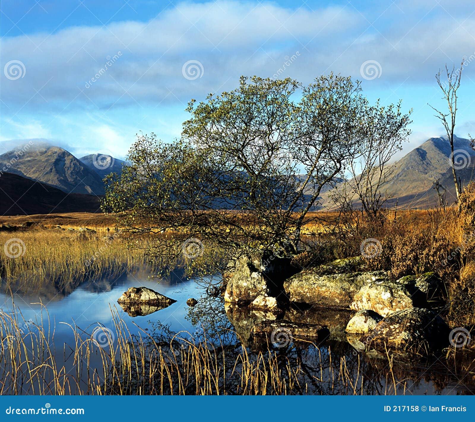 Rannoch legt vast (Schotland).