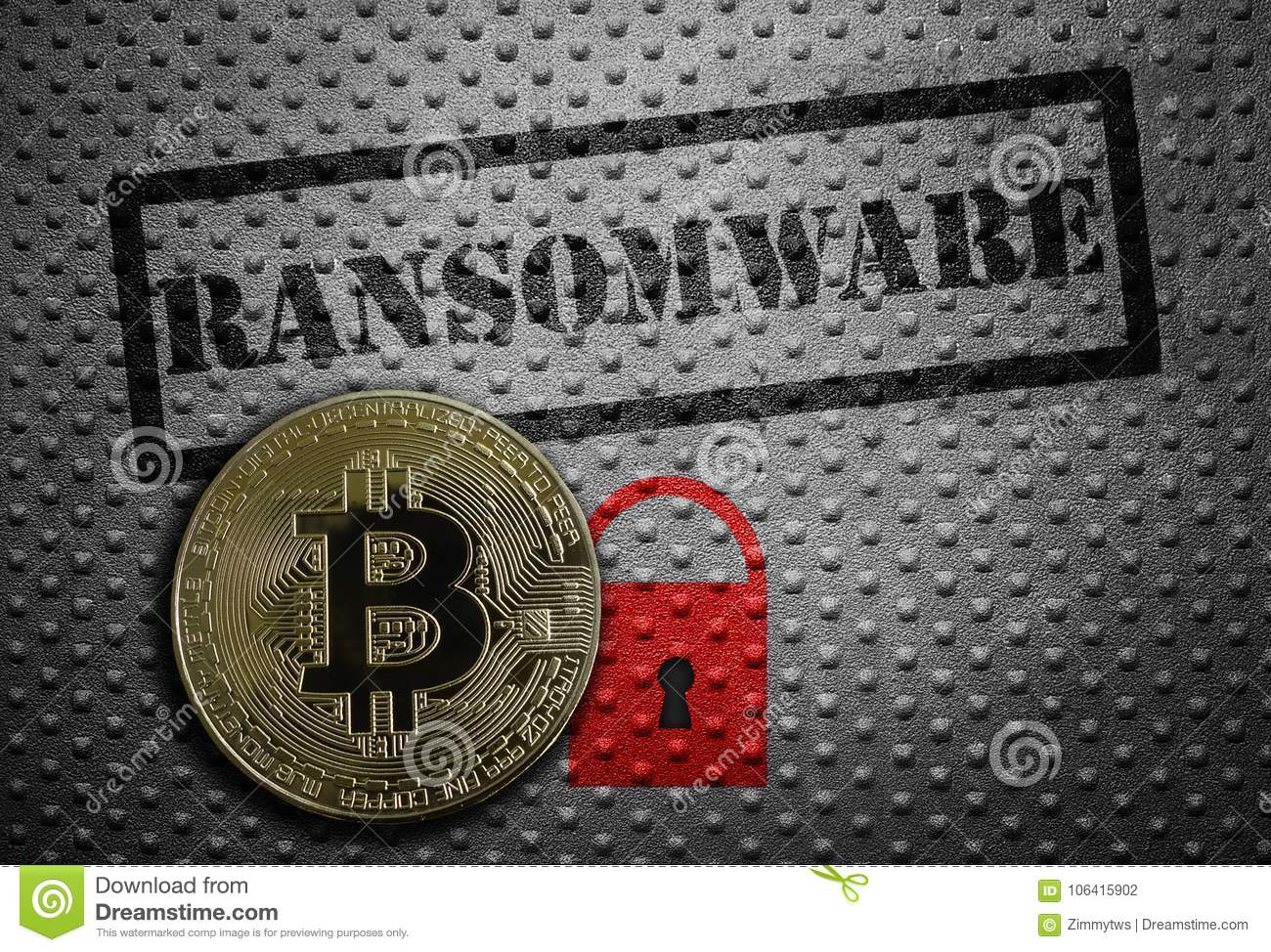 Ransomware bitcoin concept stock photo. Image of illegal - 106415902