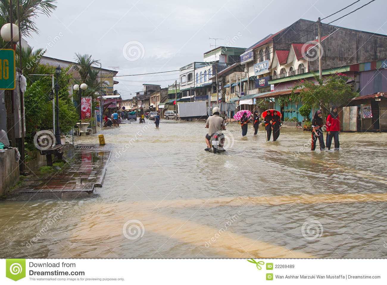 Rantau Panjang Malaysia  city pictures gallery : Rantau Panjang In Flood Editorial Stock Image Image: 22269489