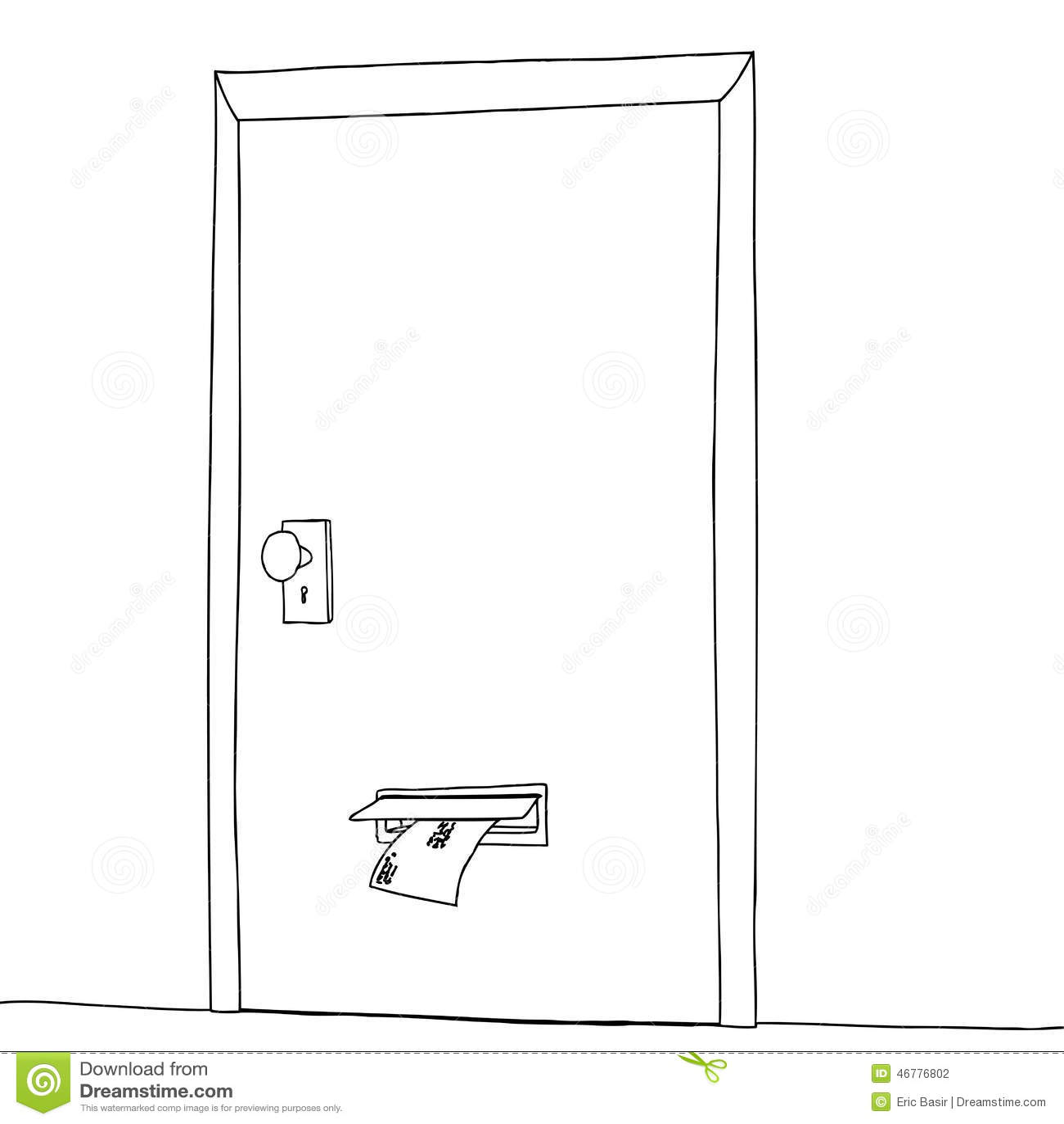 Ranura de correo de la puerta del esquema ilustraci n del for Correo puerta a puerta