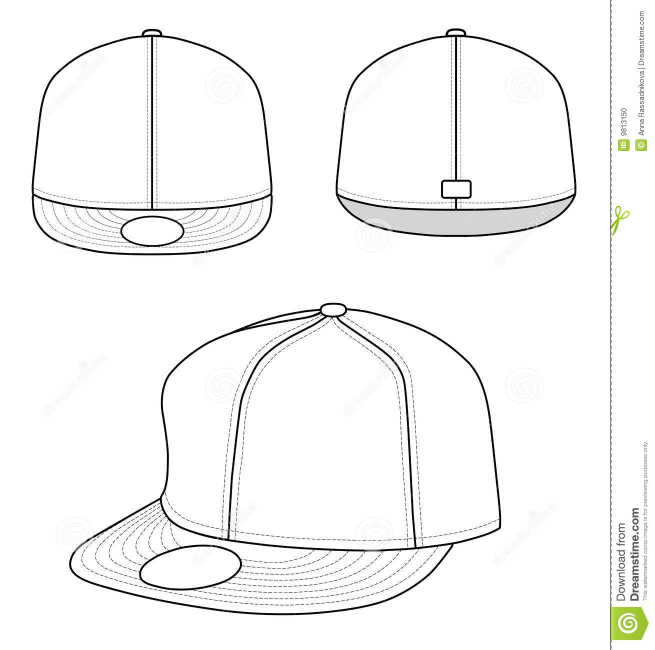 Rap Cap Vector Illustration Clip Clothing