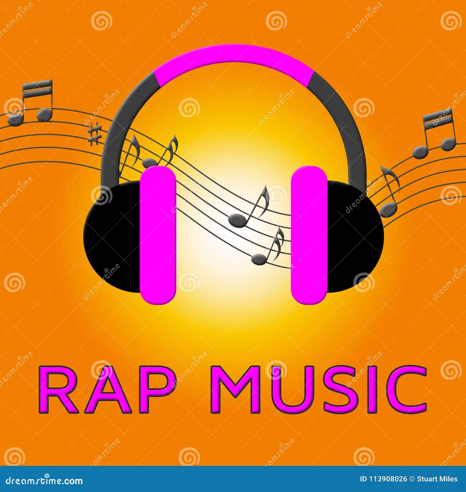 Rap Music Means Spoken Songs 3d Illustration Stock