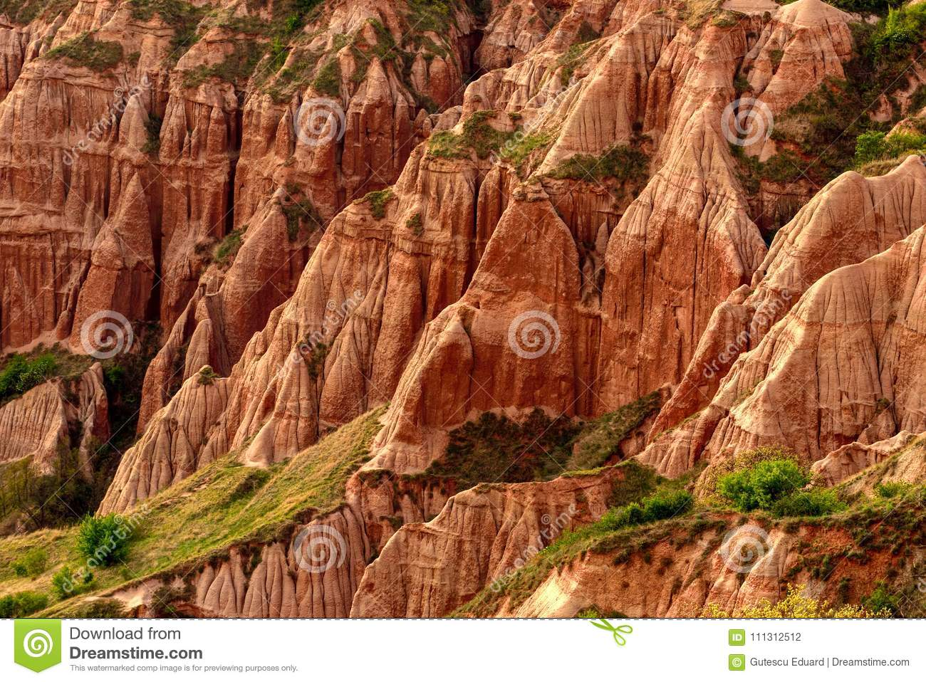 Rapa Rosie in Romania , red mountain with red rock